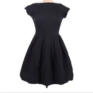 FRENCH CONNECTION BLACK CASUAL PLEATS DRESS